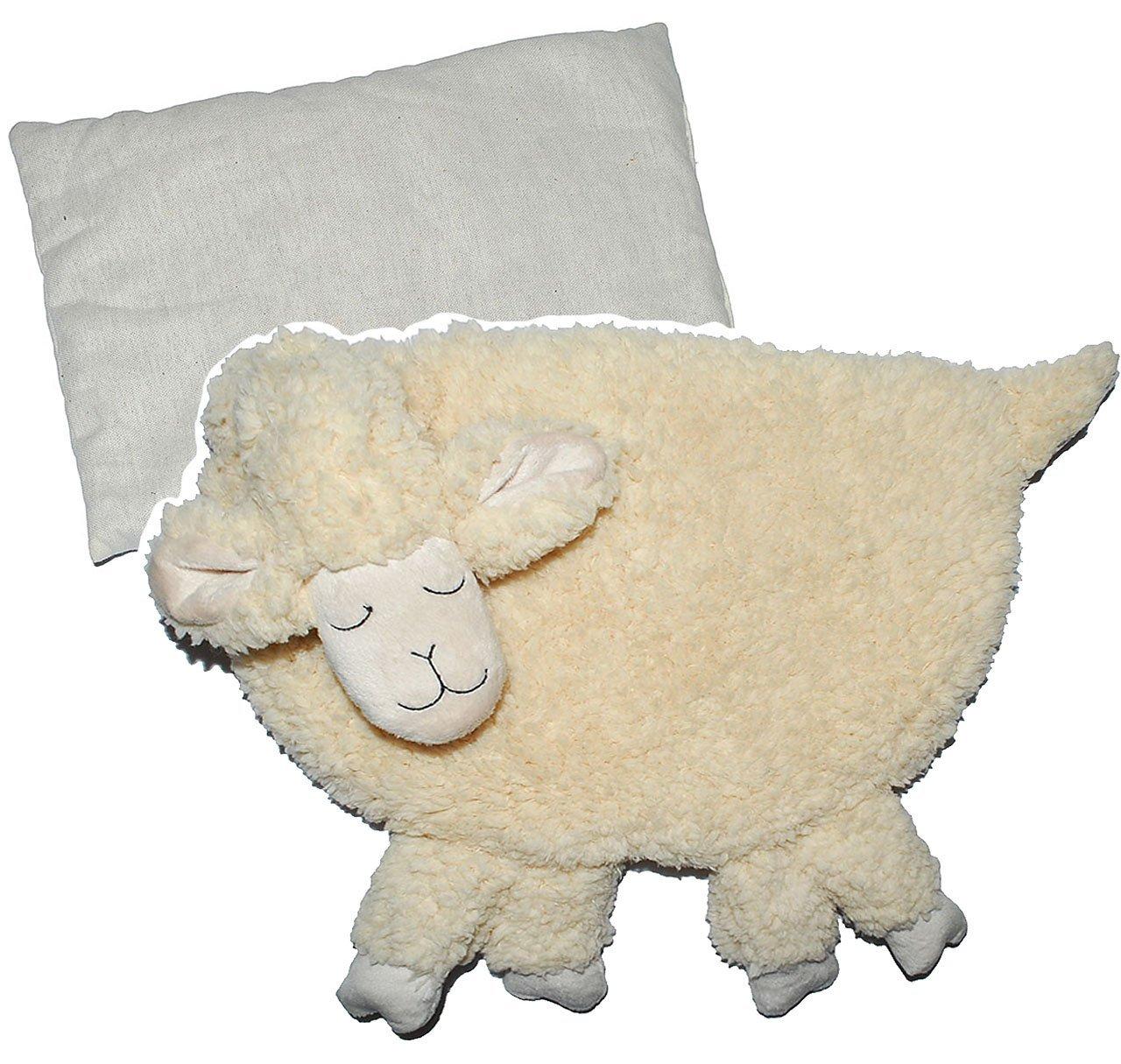 Unbekannt XL Dinkelkissen Schaf 42 cm - Wärme Wärmekissen Heizkissen Dinkel Schäfchen - groß Kuscheltier Körnerkissen Tier für Kinder Babys und Erwachsene Kinder-land