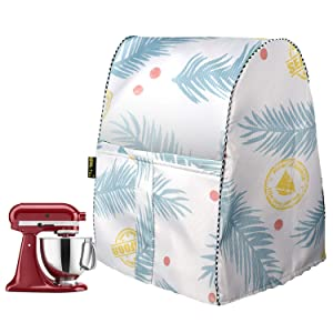 Stand Mixer Cover/Kitchen Mixer Cover with Organizer Bag, Fits All Tilt Head & Bowl Lift Models(W11.8D11H16in,Blue Plume)