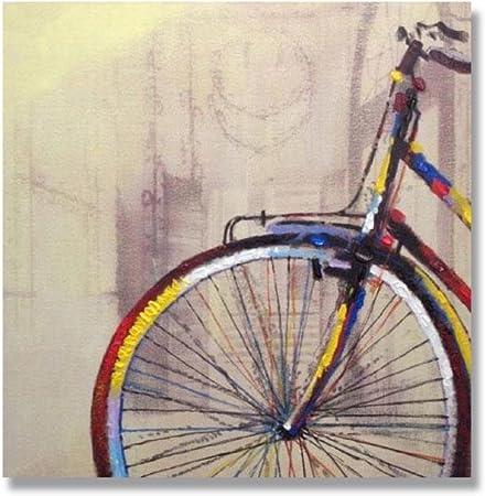Bicicleta puro pintado a mano de pintura al óleo Art 100% pintado a mano: Amazon.es: Hogar