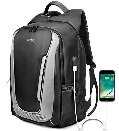 ea6ac171c32f DTBG 17.3 Inch Laptop Backpack Travel Backpack Nylon Rucksack Water  Resistant Daypack with USB Port fit 17-17.3 Inch Laptop for  School/Work/Men/Women ...