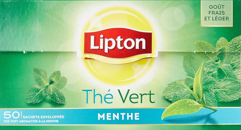 Bien connu Lipton Thé Vert Menthe 50 Sachets 80g, Lot de 2: Amazon.fr: Epicerie JZ72