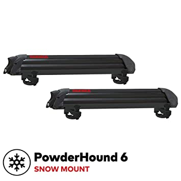 Yakima Snowboard Rack >> Yakima Powderhound 6 Ski Snowboard Mount Fits Up To 6 Pairs Of Skis Or 4 Snowboards Rides Quietly Fits Most Roof Racks Black
