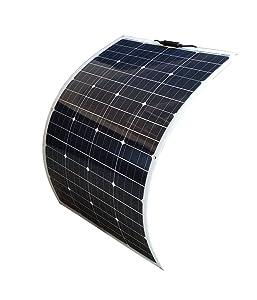 Image of a flexible 100 Watt WindyNation solar panel