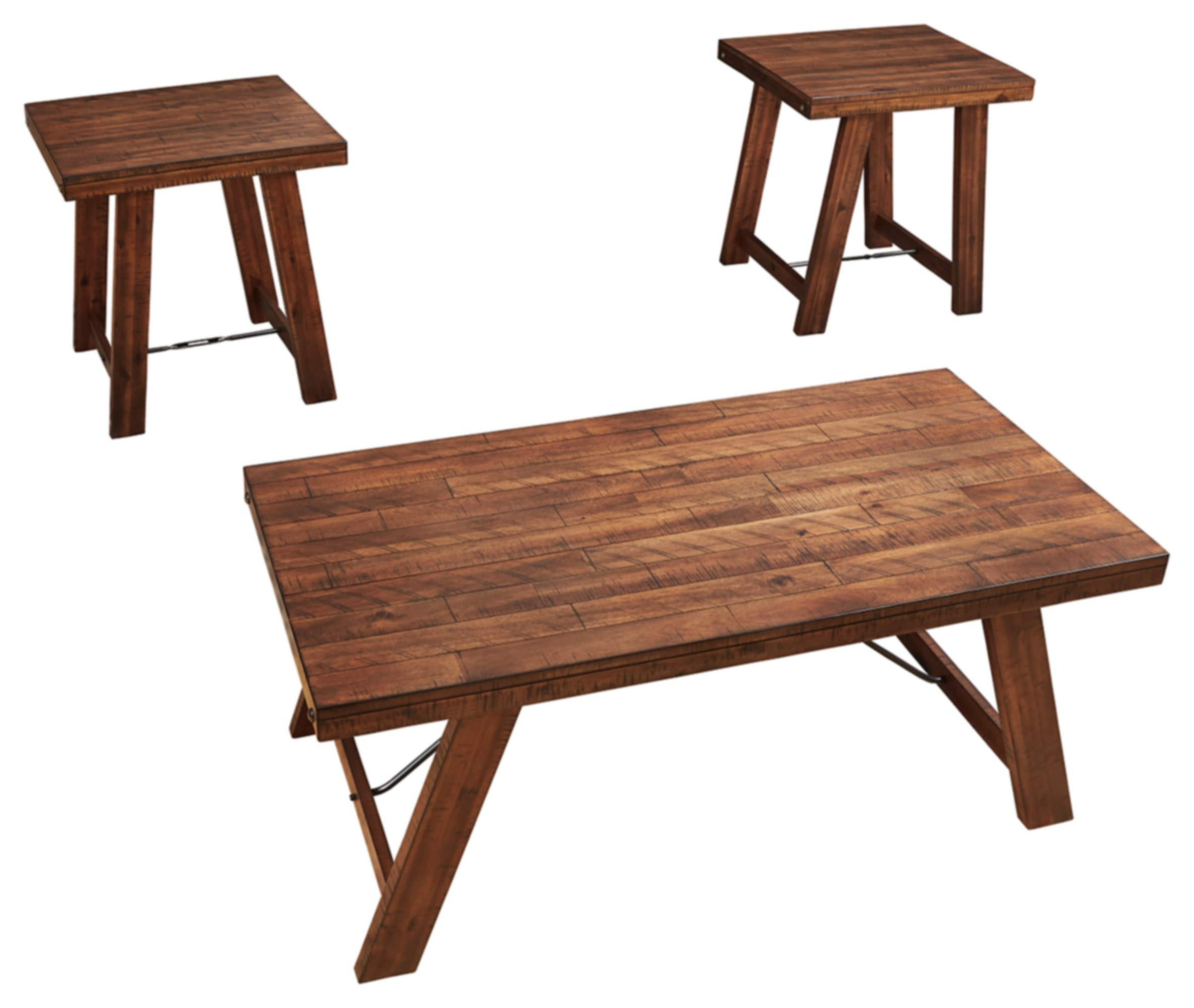 Signature Design by Ashley - Frezler Casual Wood Occasional Table Set by Signature Design by Ashley