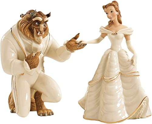 Lenox Beauty and The Beast Belle Figurines Set Princess Bended Knee