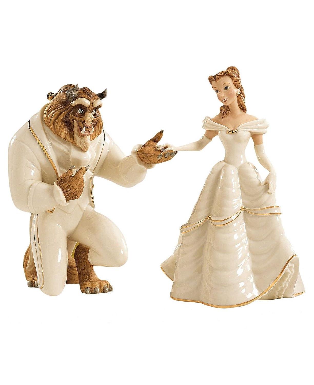 Lovely Beauty and the Beast Wedding Cake topper.lenox Disney Beauty ...