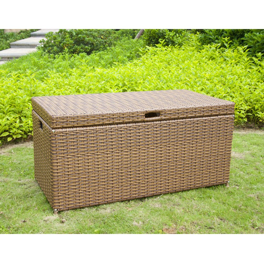 Jeco Wicker Patio Storage Deck Box in Honey ORI003-C