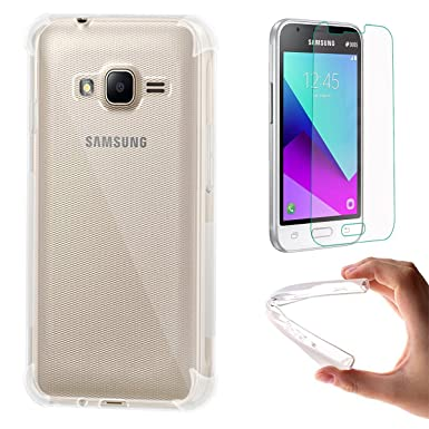 sports shoes d516f 83316 EUGO Samsung Galaxy J1 mini prime Case,(1 Pack) Soft TPU Transparent  Protector Case + (1 Pack) Tempered Glass Screen Protector for Samsung  Galaxy J1 ...