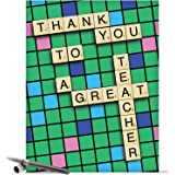 J9123 Jumbo Thank You Card: Thank You to a Great Teacher With Envelope (Extra Large Version: 8.5'' x 11'')