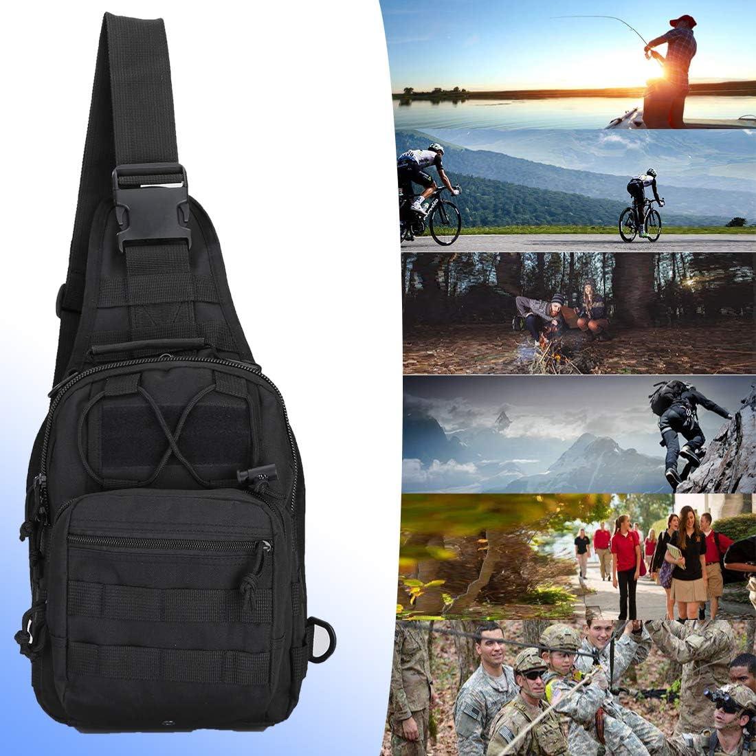 denlix EDC Shoulder Bag Chest Pack Single Shoulder Messenger Molle Military Sport Backpack Hiking Daypack Men Women : Clothing