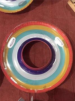 60/70/80/90/120 cm Giant Rainbow Sandía Anillo de natación para ...