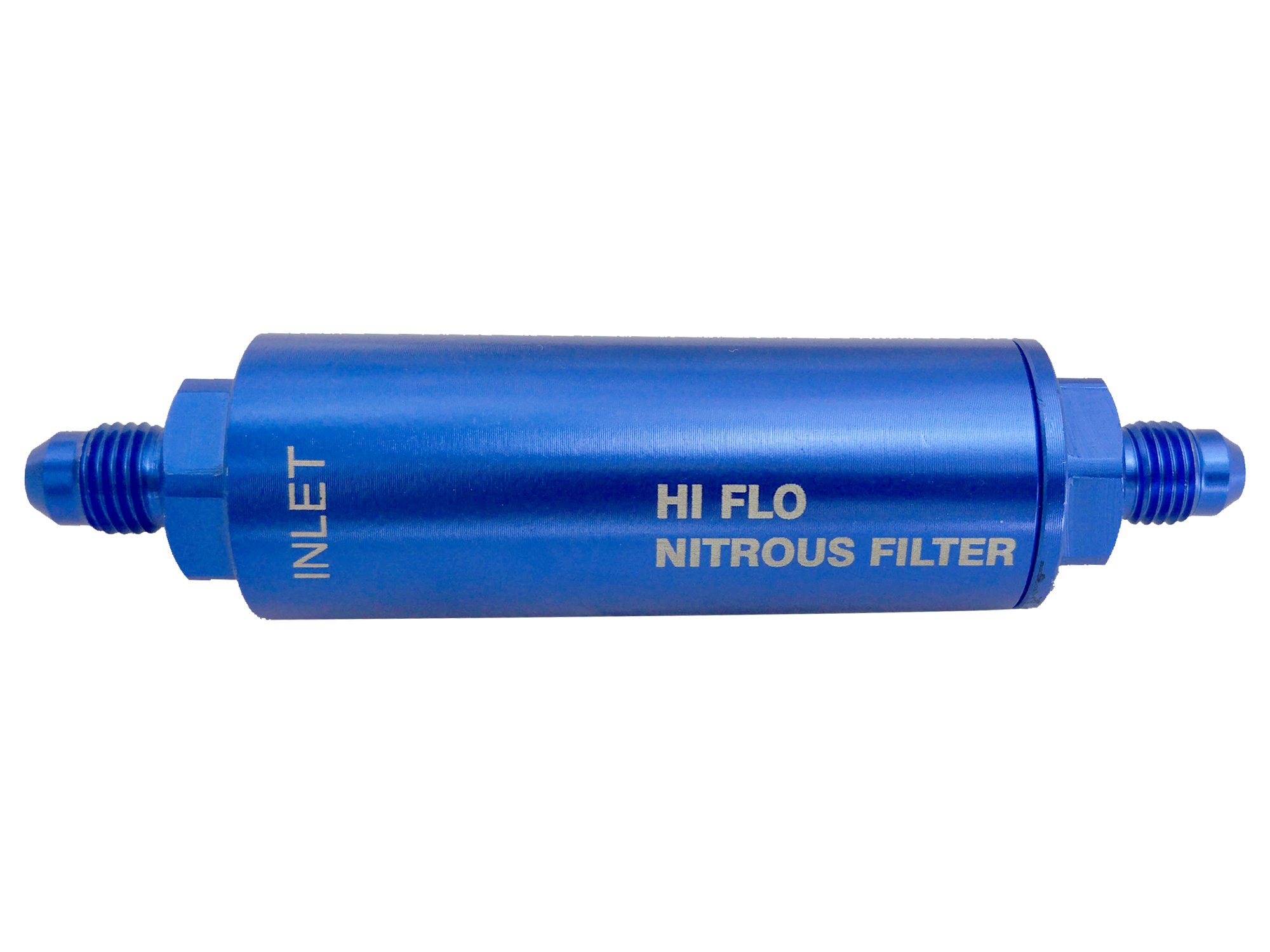 Nitrous and Fuel Filters Anodized Billet Aluminum Work For N-O-S/NITROUS 15552 Nit140 Micron (-6AN ) Blue