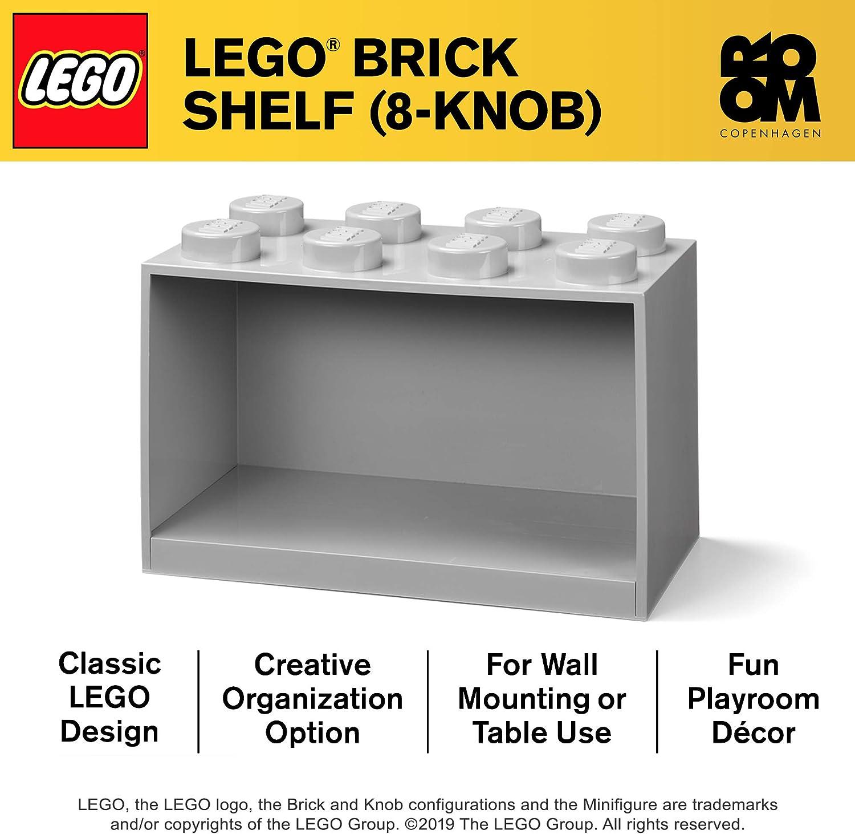 Room Copenhagen Stackable or Mountable Storage Compartment Blue Lego Brick Shelf Box 4 Stud