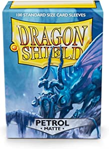 Dragon Shield Matte Petrol Standard Size Card Sleeves Display Box [10 Packs]