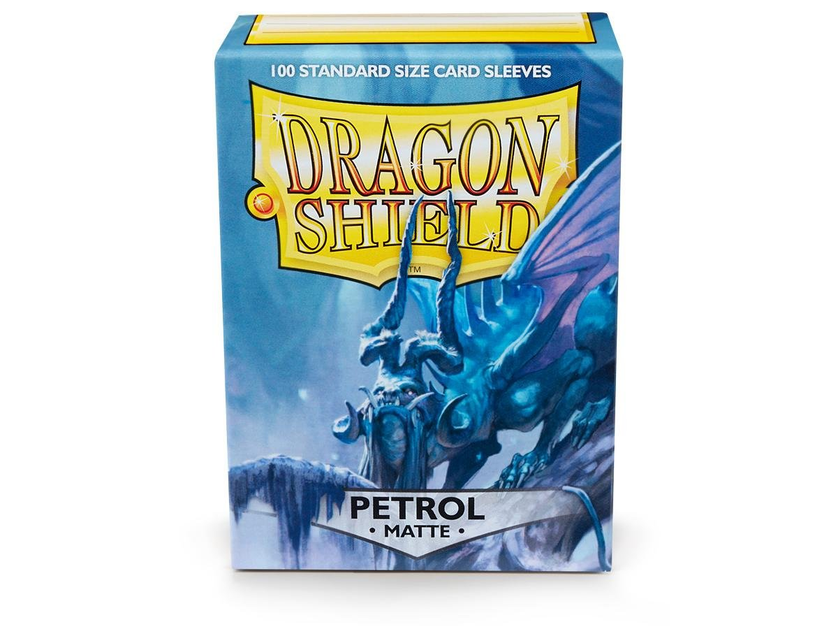 Dragon Shield Matte Petrol Standard Size Card Sleeves Display Box [10 Packs]