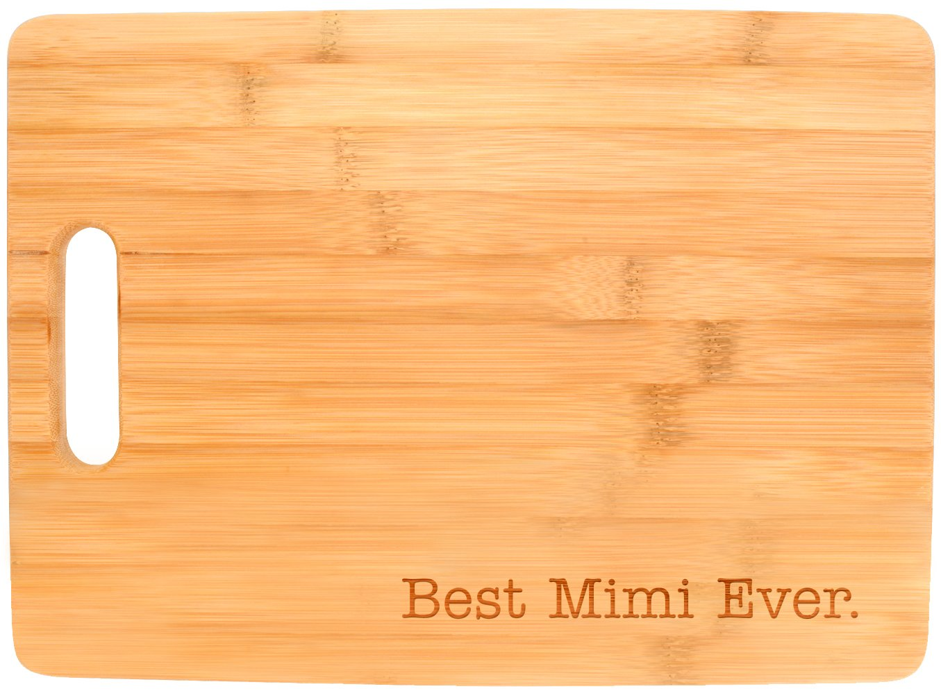 Best Mimi Ever Grandma Gift Kitchen Décor Big Rectangle Bamboo Cutting Board Bamboo