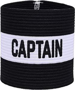 VerteLife Brazalete de Capitán de Fútbol Clásico, Elastico Capitán Brazalete para Adultos y Niños, Apto para Varios Deportes - Negro, Talla única: Amazon.es: Deportes y aire libre