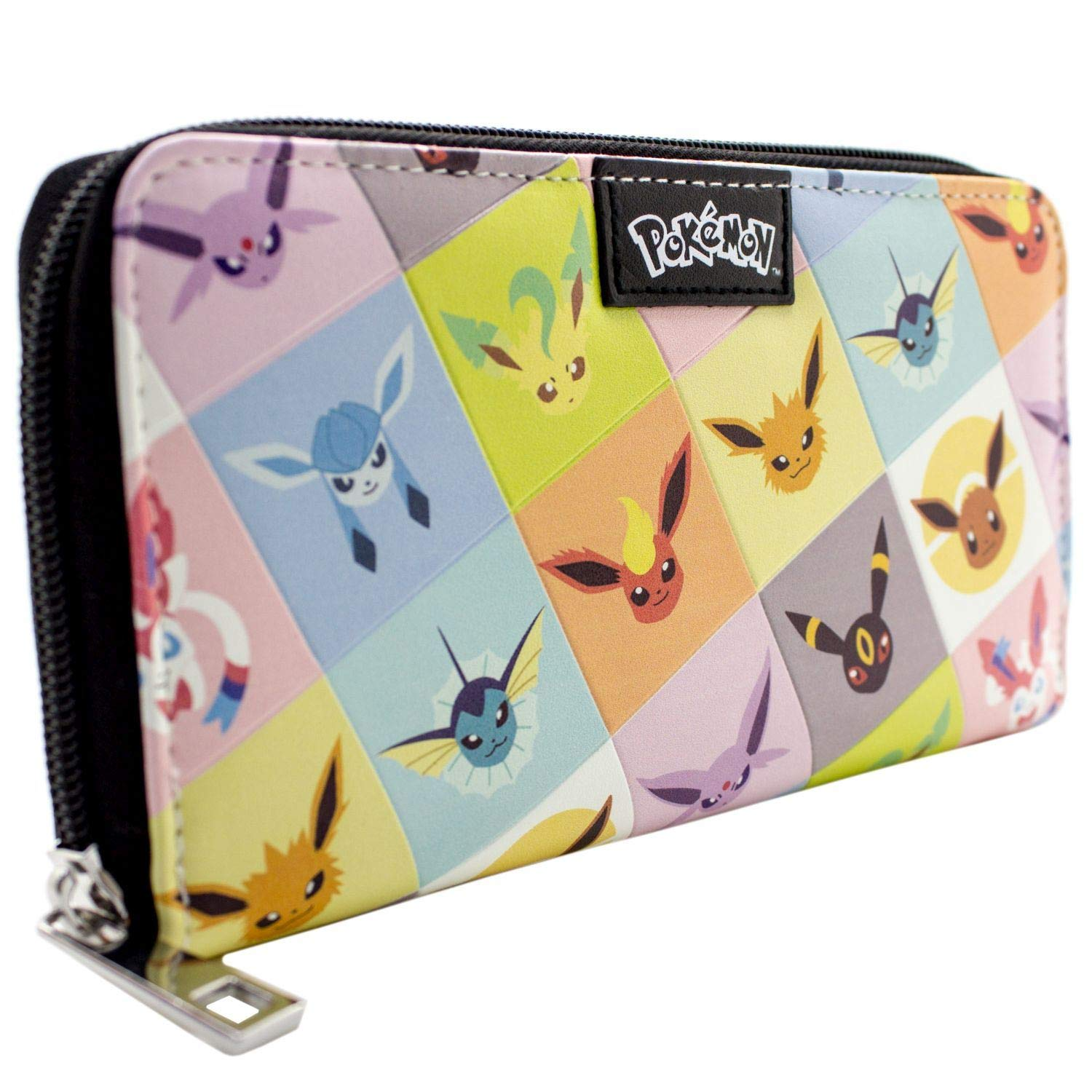 Cartera de Pokemon Eevee evolución Umbreon Jolteon Negro: Amazon.es: Equipaje