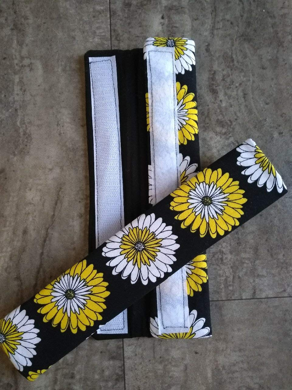 Set of 2 Yellow Daisies Refrigerator Handle Covers