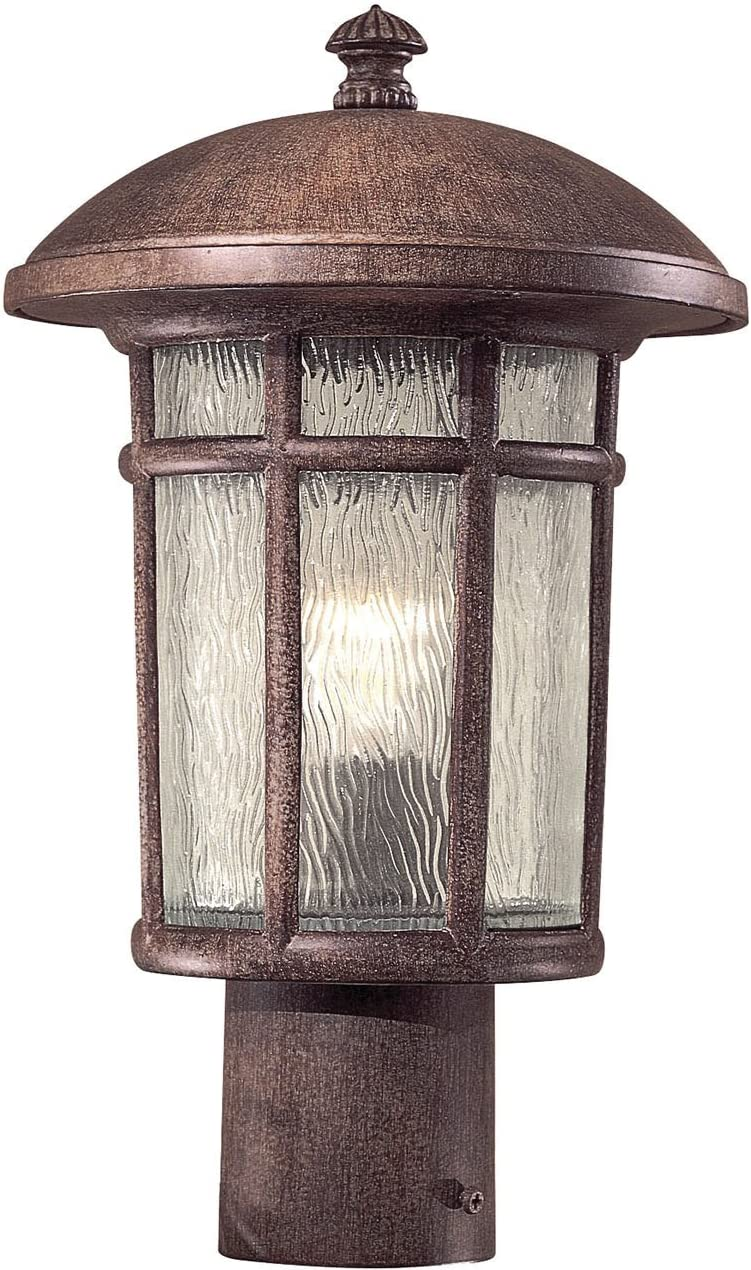 Minka Lavery Outdoor Post Lights 8256-61 Cranston Exterior Lighting Fixture, 75 Watts, Rust
