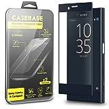 CaseBase Full Cover - Sony Xperia X Compact - Pellicola Protettiva per Display in Vetro Temperato - Bordi Curvati in 3D Nuova Generazione - Confezione doppia per Xperia X Compact ** Doppio Vetro ** 2 in 1 NERO