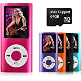 MYMAHDI Digital Compact and Portable MP3 / MP4 Player with Photo Viewer, E-Book Reader and Voice Recorder and FM Radio Video Movie, Pink