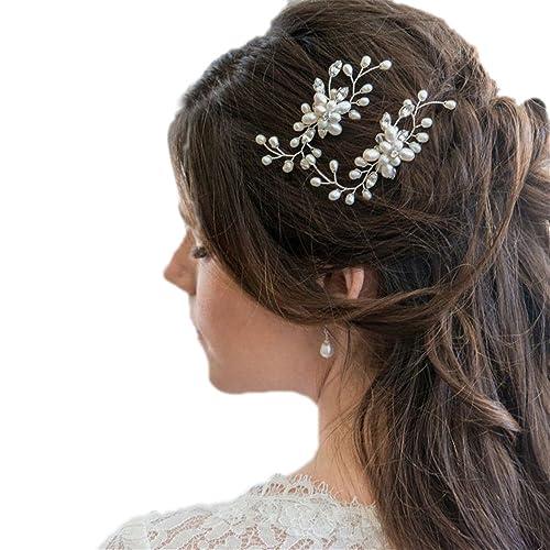 Contever 3 Pezzi Sposa Capelli Cristallo Perle Forcine per Capelli da Donna  Fermagli Copricapo Accessori 10acffe17531