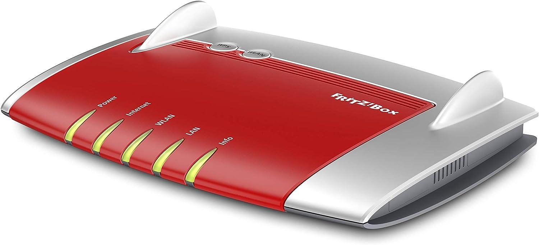 AVM FRITZ!Box 4040 International - Router WiFi AC 1300, banda dual, Mesh, 5 puertos Gigabit, Interfaz en Español