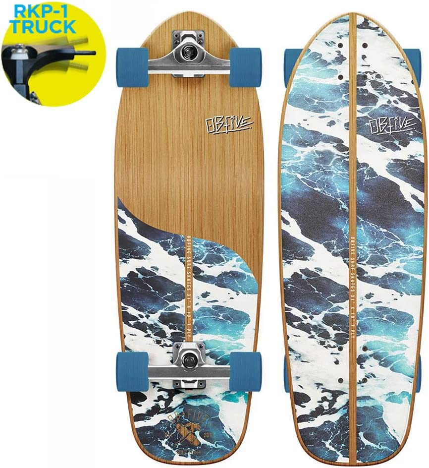 OBFive(オービーファイブ) スケートボード 白い Wash 31
