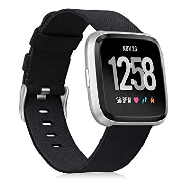 Fintie for Fitbit Versa 2 / Versa/Versa Lite Edition Bands, Soft Woven Fabric Replacement Accessory Strap Wristband Compatible with Fitbit Versa Smart ...