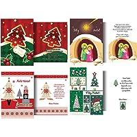 Cristina KIT-285, Cartão de Natal, Multicolor, Pacote de 120