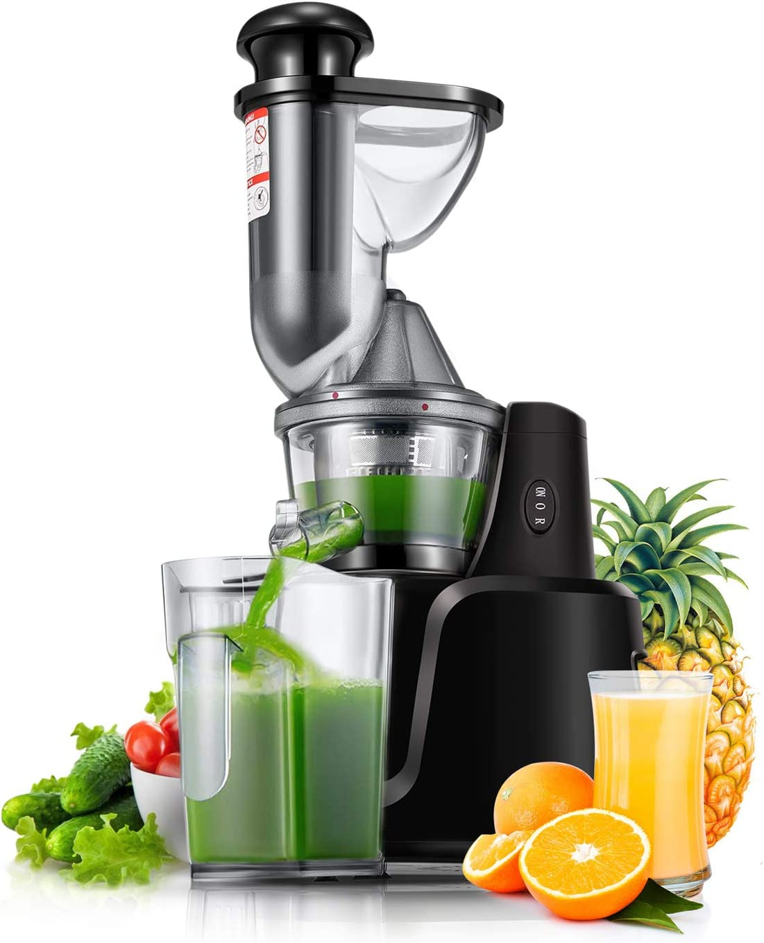 Juicer Machines, [2020 Upgrade] Joerid Slow Masticating Juicer Extractor Reverse Function, BPA-Free, Cold Press Juicer with Brush, Juice Recipes for Vegetables and Fruits