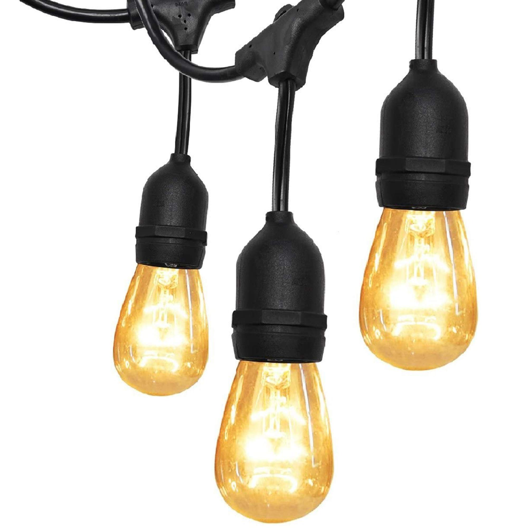 UL Approval 52FT Outdoor String Lights SUPERDANNY
