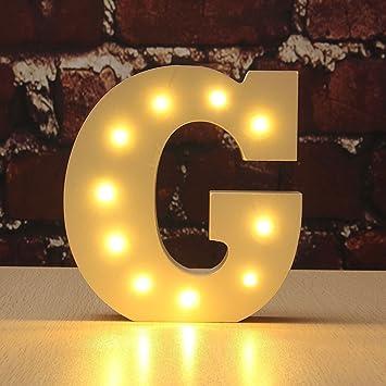 Amazon.com: Light Up Letters , Hostweigh LED Light Up Wooden ...