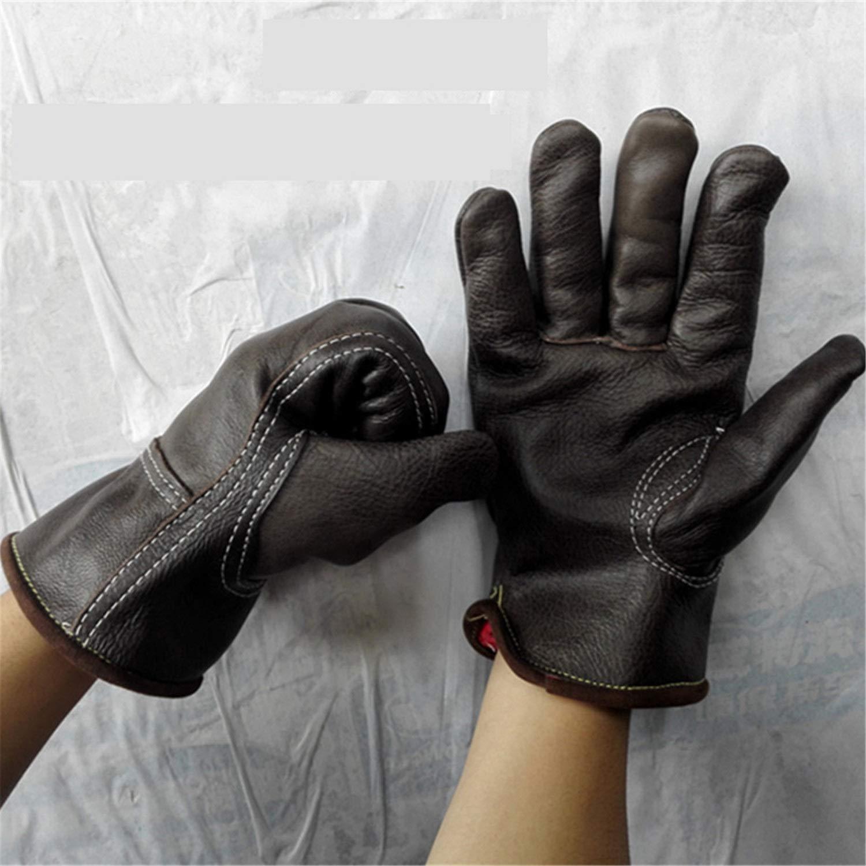 noir Double layer L-Five pair KQYAN Gants Anti-brûlants - Gants Anti-brûlures pour Four à Micro-Ondes cuir Plus en Cuir épais et Velours