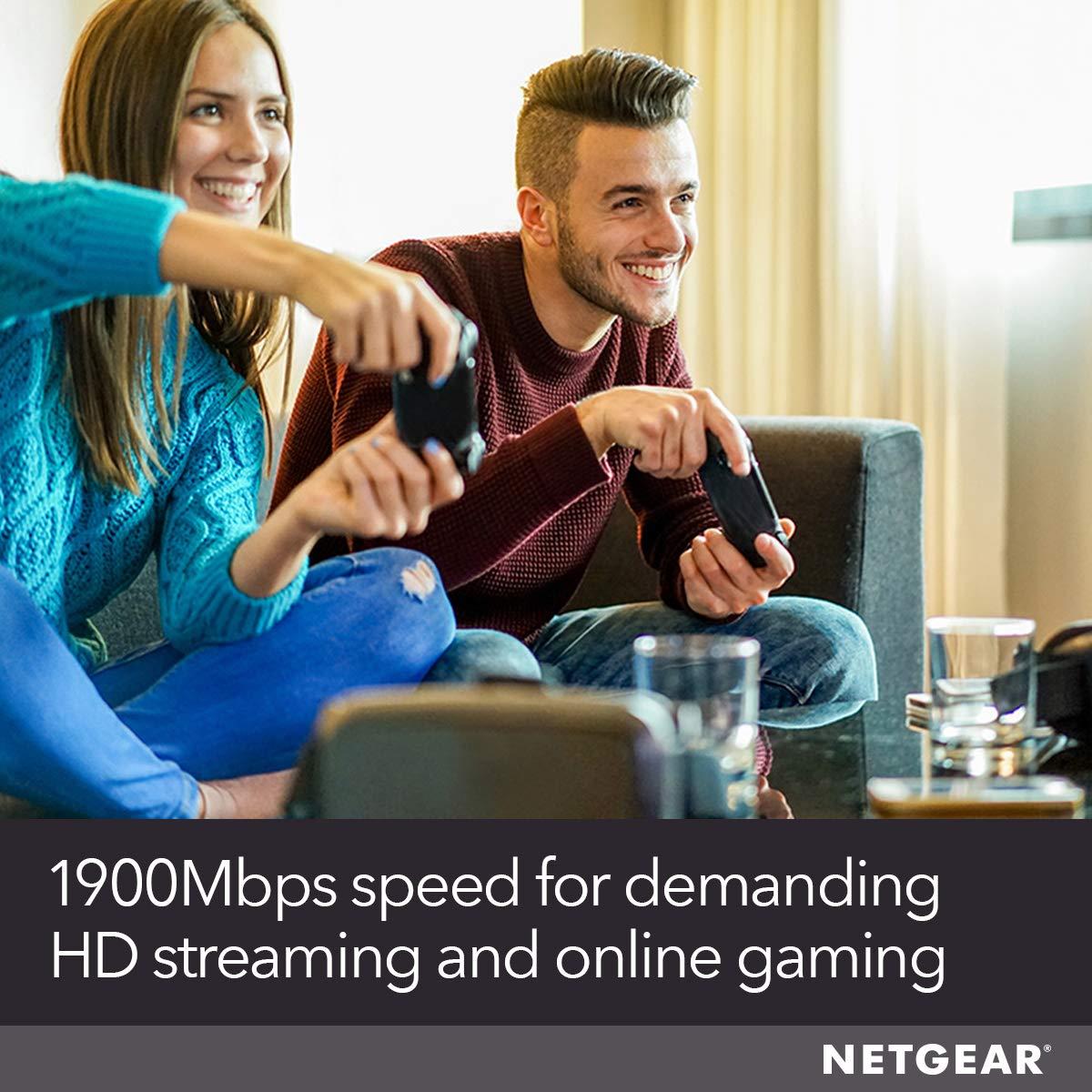 Netgear Wifi Mesh Range Extender Ex6400 - Coverage nach oben zu 1800 Sq.Ft. und 30 Devices mit Ac1900 Dual Band Wireless Signal Booster & Repeater (nach oben zu 1900Mbps Speed), Plus Mesh Smart Roaming