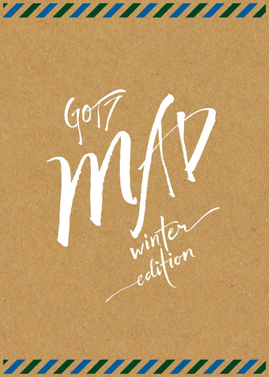 GOT7 - MAD Winter Edition [Merry Ver.] CD + 22 Postcards + 18p Lyrics + 4 Stickers + Diary + Extra Gift Photocards Set by JYP Entertainment