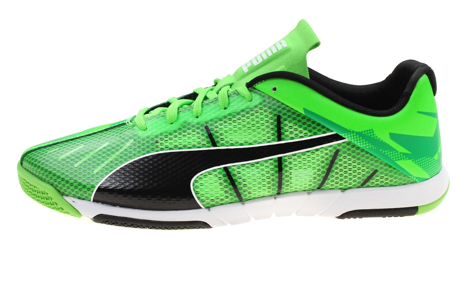 c795f1a06 ... Puma Men s Green Black White and Youth Big Boys 19056 Boys Neon Lite 2.0  Indoor ...