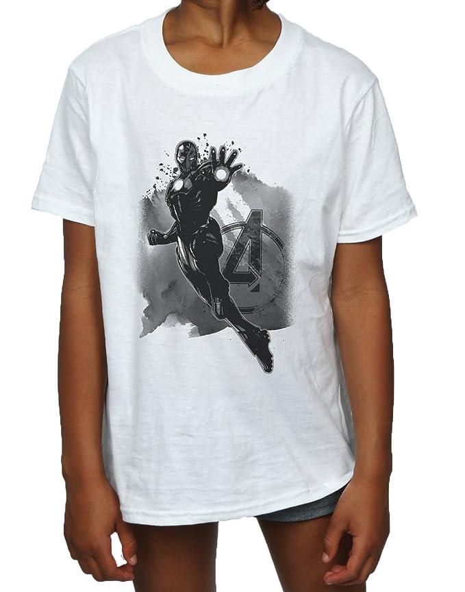 Marvel niñas Avengers Iron Man Monotone Camiseta: Amazon.es: Ropa y accesorios