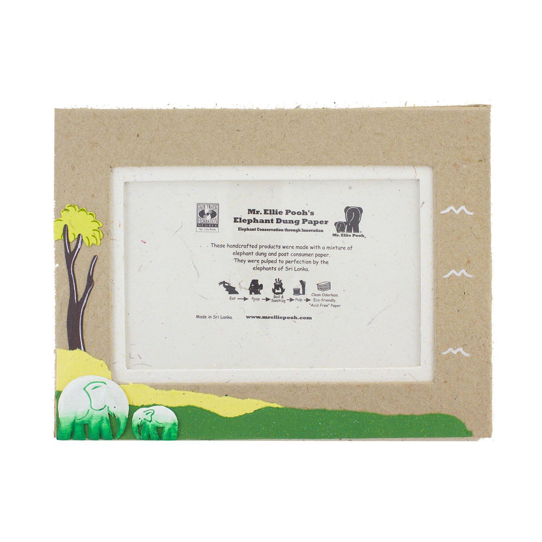 400-855301003386 Mr Ellie Pooh Poo Paper Natural Kraft 4 x 6 Elephant Self-Standing Photo Frame