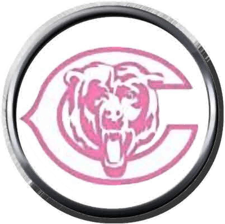 Amazon Com Chicago Bears Pink Bear Nfl Football Logo 18mm 20mm Snap Jewelry Charm Jewelry