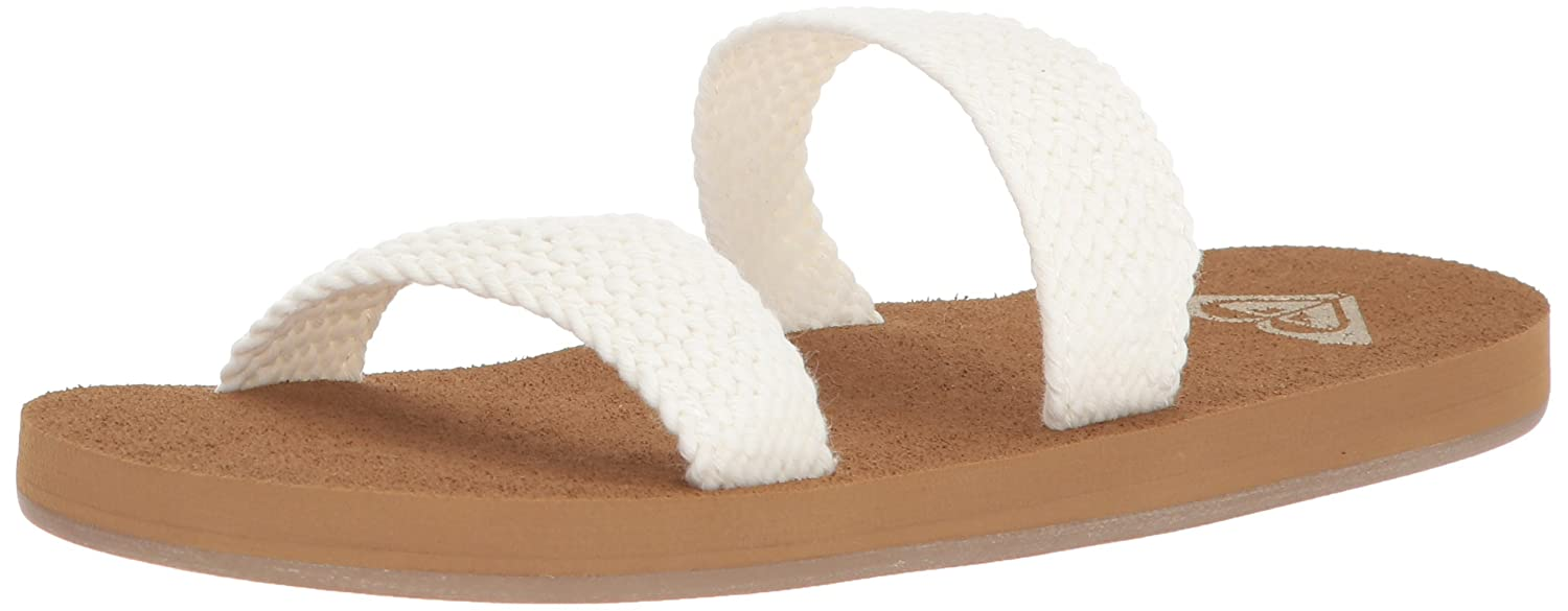 Roxy Women's Sanibel Slide Sandal B072KL5N2K 8 B(M) US|Cream