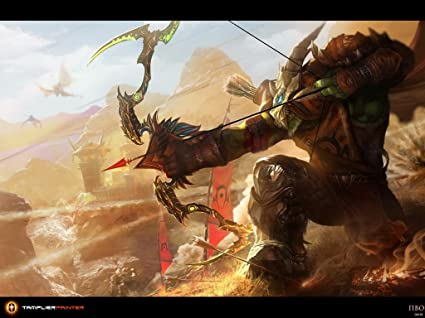 Warcraft Horde Hero Orc Hunter Game Fan Art 32x24 Poster Print