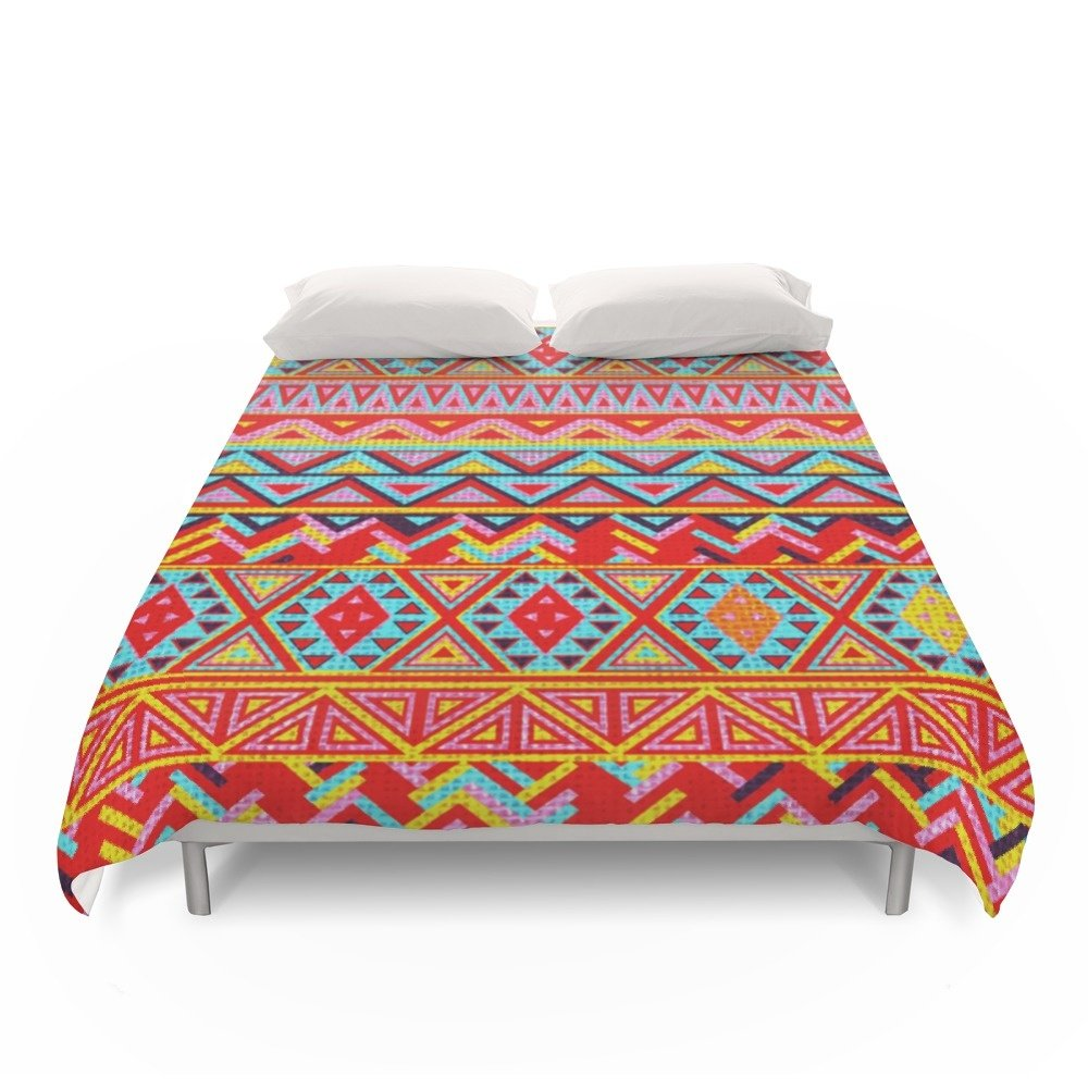 Society6 India Style Pattern (Multicolor) Duvet Covers King: 104'' x 88''