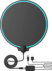 [2020] Amplified HD Digital TV Antenna 80-120 Miles Long-Range Reception Support 4K 1080p Indoor TV Digital HD Antenna Freeview Life Local Channels All Type Television Switch Amplifier Signal Booster