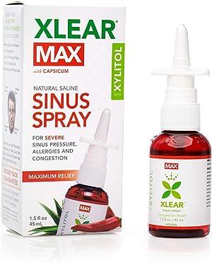 Xlear Max Nasal Spray with Capsicum, 1.5 fl oz