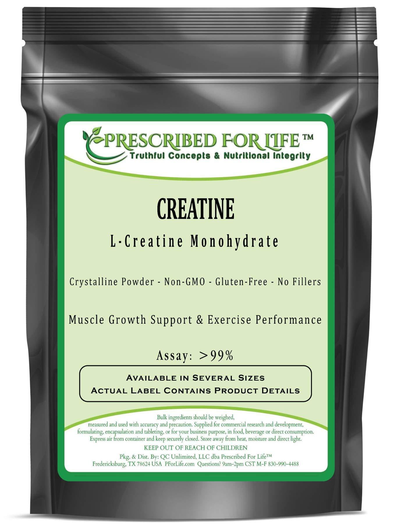 Creatine (L) - Pure L-Creatine Monohydrate Crystalline Powder - 80 Mesh, 25 kg