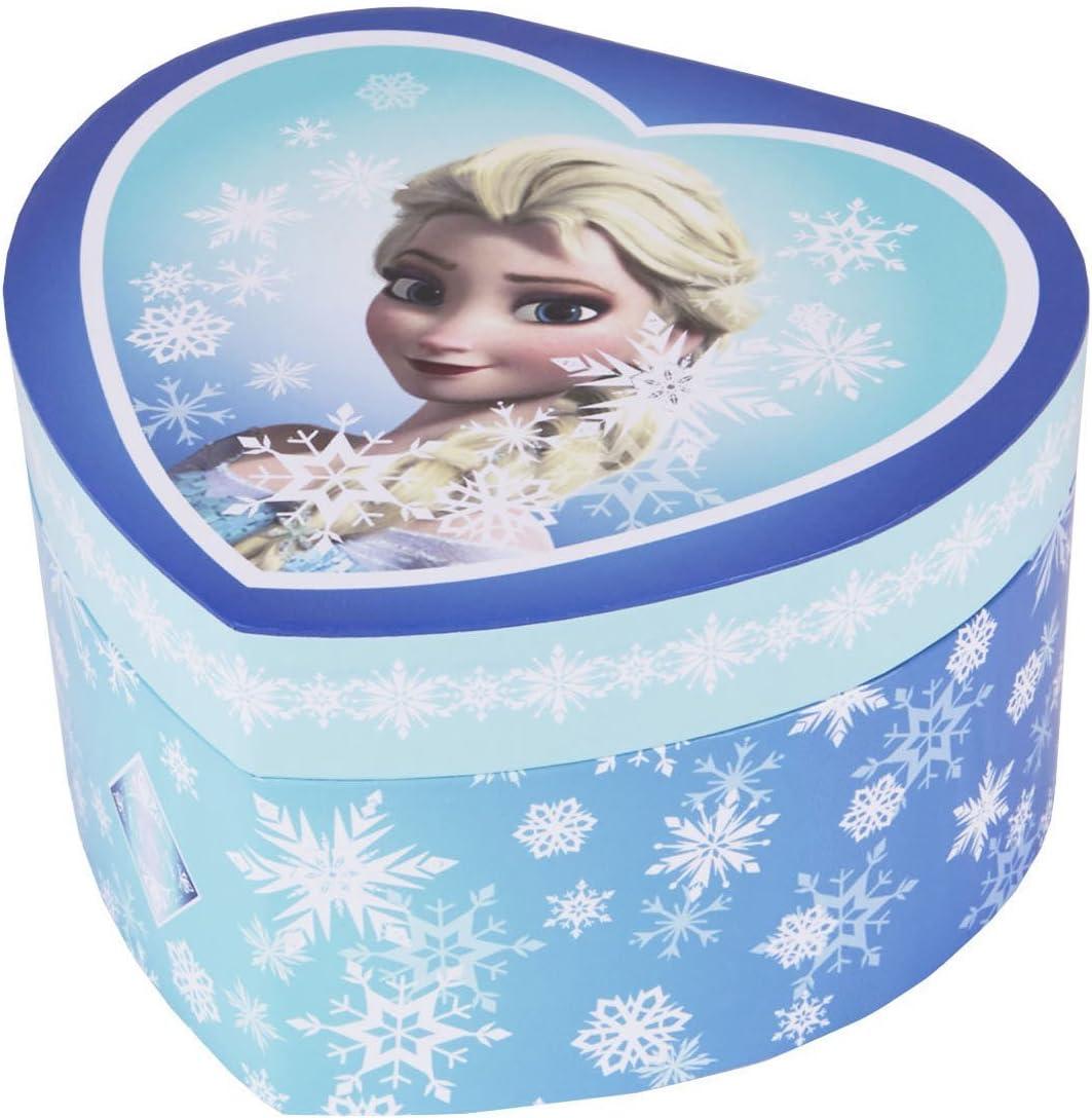 Trousselier Caja de joyería Caja de música Frozen Elsa Snow Queen en una Forma de corazón: Amazon.es: Juguetes y juegos