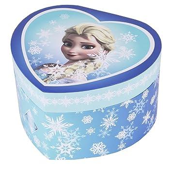 Trousselier Caja de joyería Caja de música Frozen Elsa Snow Queen en una Forma de corazón