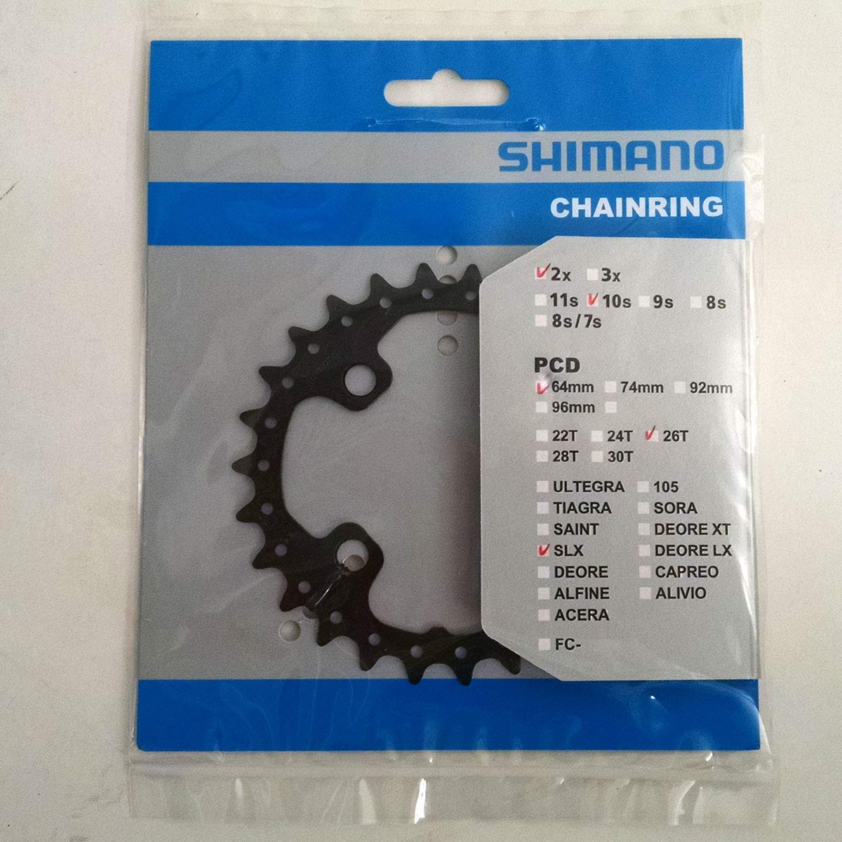 Shimano XT M785 26t 64mm 10-Speed AK-type Inner Chainring